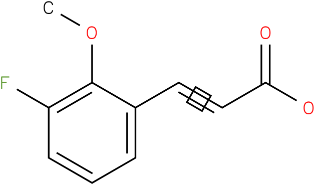 (E)-3-(3-fluoro-2-methoxyphenyl)acrylic acid