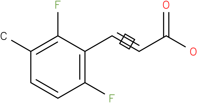 3-(2,6-difluoro-3-methylphenyl)acrylic acid