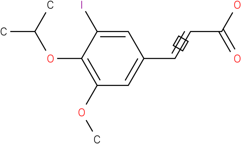 (E)-3-(3-iodo-4-isopropoxy-5-methoxyphenyl)acrylic acid
