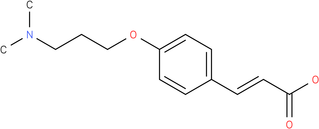 (E)-3-(4-(3-(dimethylamino)propoxy)phenyl)acrylic acid