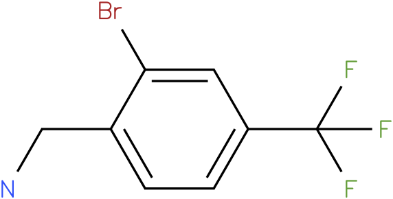 (2-bromo-4-(trifluoromethyl)phenyl)methanamine