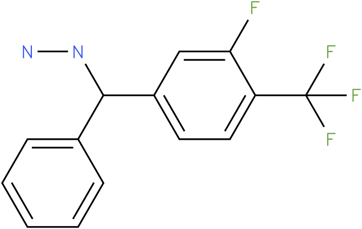 1-((3-fluoro-4-(trifluoromethyl)phenyl)(phenyl)methyl)hydrazine