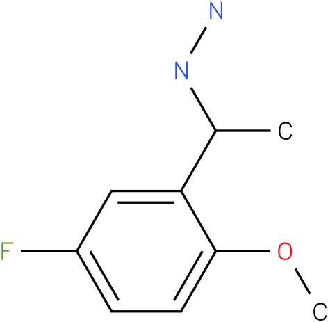 1-(1-(5-fluoro-2-methoxyphenyl)ethyl)hydrazine