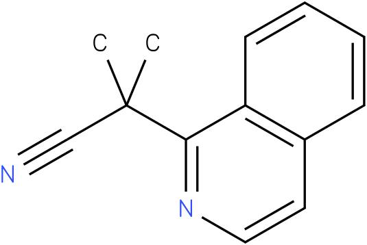 2-(isoquinolin-1-yl)-2-methylpropanenitrile