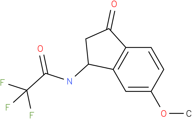 2,2,2-TRIFLUORO-N-(6-METHOXY-3-OXO-2,3-DIHYDRO-1H-INDEN-1-YL)ACETAMIDE