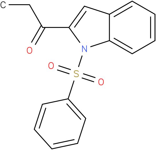 2-(1-OXOPROPYL)-1-(PHENYLSULFONYL)-1H-INDOLE