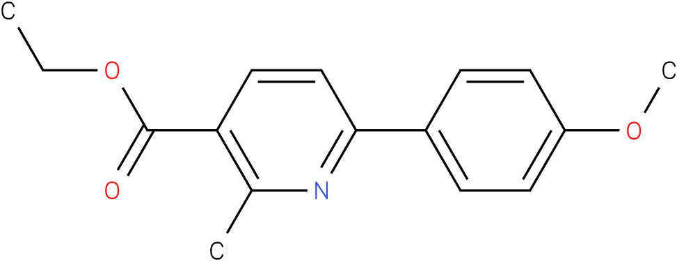ETHYL 6-(4-METHOXYPHENYL)-2-METHYLPYRIDINE-3-CARBOXYLATE