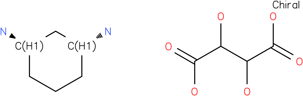 trans-cyclohexane-1,3-diamine tartrate salt