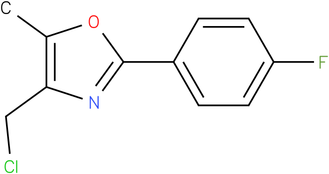 4-(CHLOROMETHYL)-2-(4-FLUOROPHENYL)-5-METHYLOXAZOLE