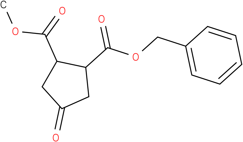 (1R,2S)-1-benzyl 2-methyl 4-oxocyclopentane-1,2-dicarboxylate