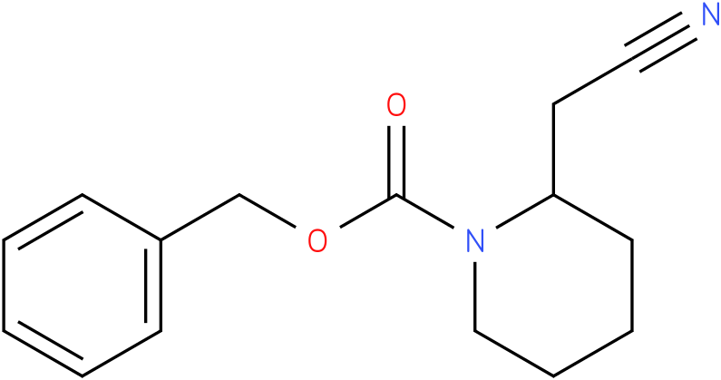 benzyl 2-(cyanomethyl)piperidine-1-carboxylate