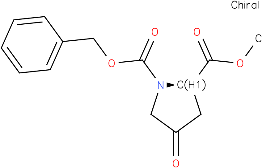 (R)-1-benzyl 2-methyl 4-oxopyrrolidine-1,2-dicarboxylate