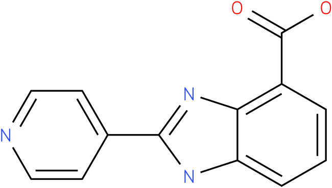 2-(pyridin-4-yl)-1H- benzo[d]imidazole- 4-carboxylic acid