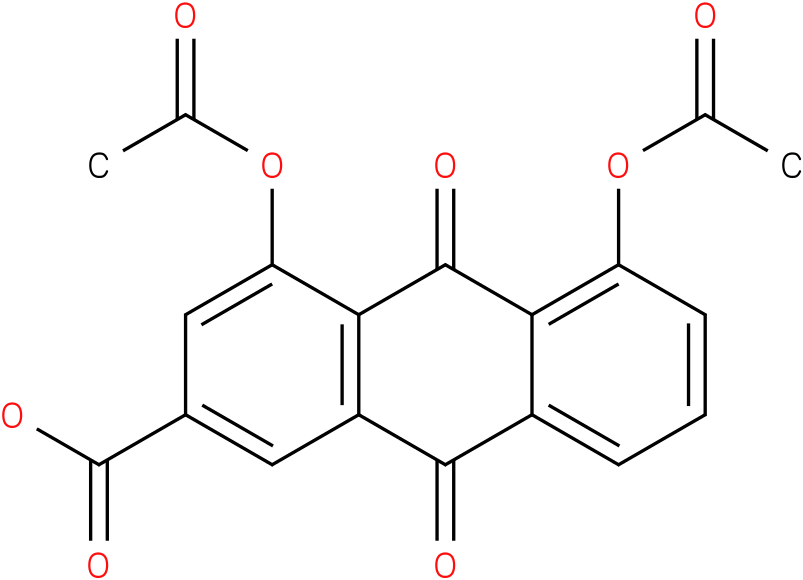 1,8-DIACETOXY-3-CARBOXYANTHRAQUINONE