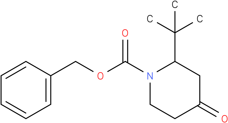 N-1-Cbz-2-tert-butyl piperidin-4-one