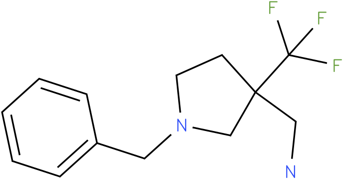 C-(1-Benzyl-3-trifluoromethyl-pyrrolidin-3-yl)-methylamine