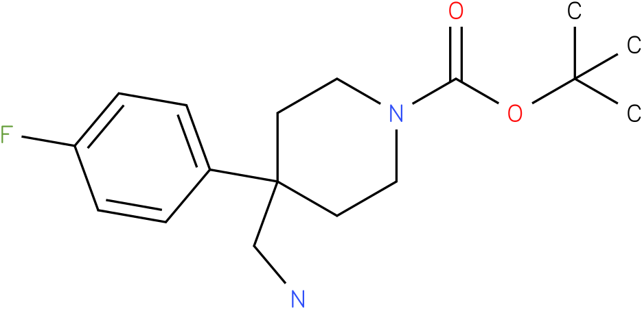 4-Aminomethyl-4-(4-fluoro-phenyl)-piperidine-1-carboxylic acid tert-butyl ester