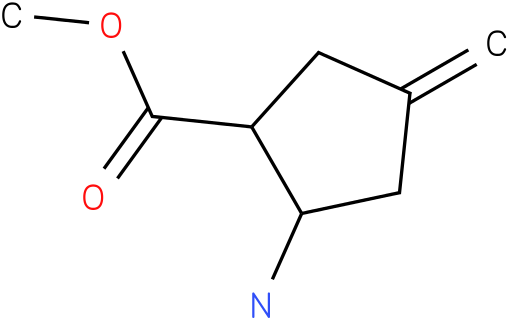2-Amino-4-methylene-cyclopentanecarboxylic acid methyl ester