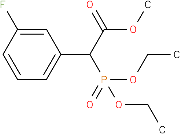 (Diethoxy-phosphoryl)-(3-fluoro-phenyl)-acetic acid methyl ester