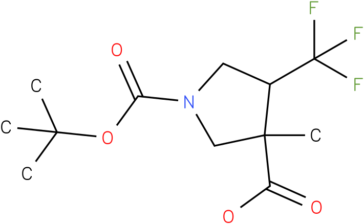 3-Methyl-4-trifluoromethyl-pyrrolidine-1,3-dicarboxylic acid 1-tert-butyl ester