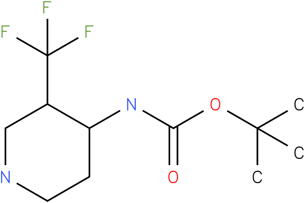 tert-butyl (3-(trifluoromethyl)piperidin-4-yl)carbamate