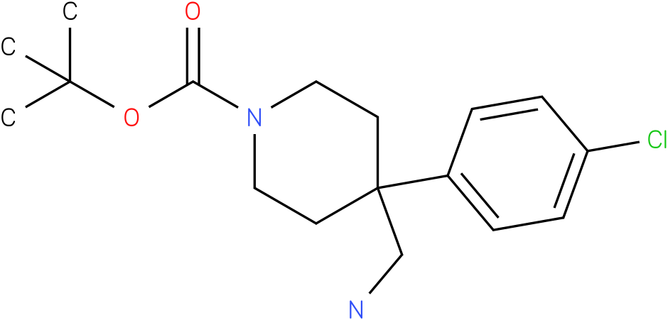 4-Aminomethyl-4-(4-chloro-phenyl)-piperidine-1-carboxylic acid tert-butyl ester
