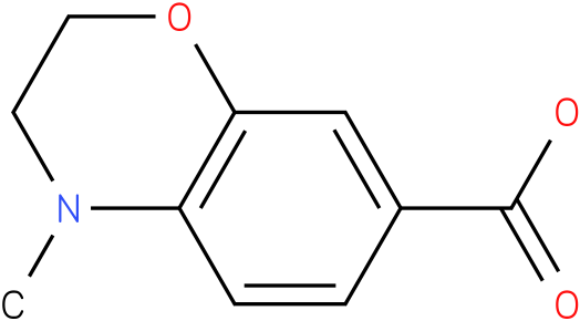 4-methyl-3,4-dihydro-2H-1,4-benzoxazine-7-carboxylic acid