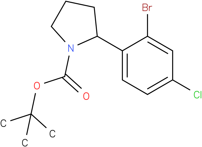 tert-butyl 2-(2-bromo-4-chlorophenyl)pyrrolidine-1-carboxylate