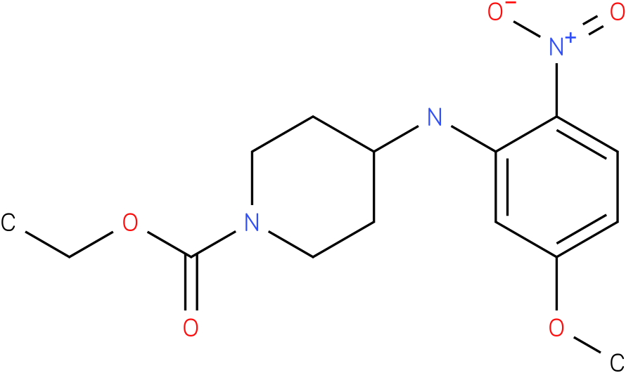 1-PIPERIDINECARBOXYLIC ACID,4-[(5-METHOXY-2-NITROPHENYL)AMINO]-,ETHYL ESTER