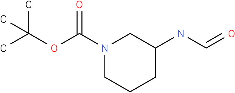 1-PIPERIDINECARBOXYLIC ACID,3-(FORMYLAMINO)-,1,1-DIMETHYLETHYL ESTER
