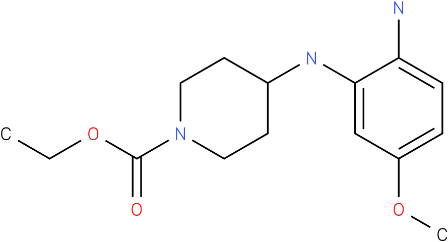 1-PIPERIDINECARBOXYLIC ACID,4-[(2-AMINO-5-METHOXYPHENYL)AMINO]-,ETHYL ESTER