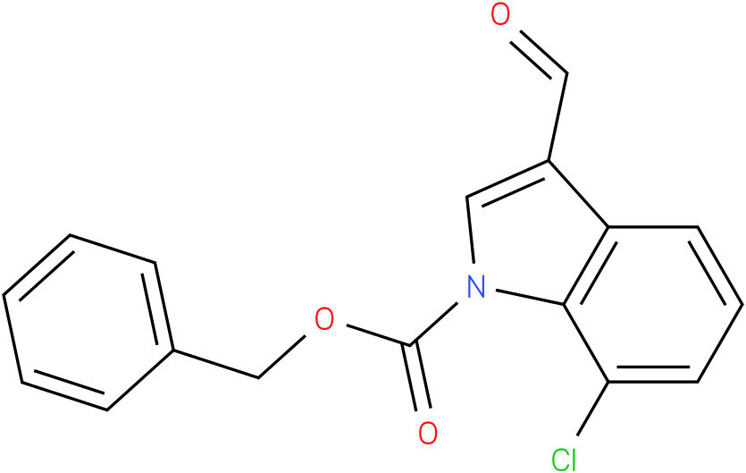 BENZYL 7-CHLORO-3-FORMYL-1H-INDOLE-1-CARBOXYLATE