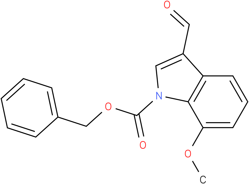 BENZYL 3-FORMYL-7-METHOXY-1H-INDOLE-1-CARBOXYLATE