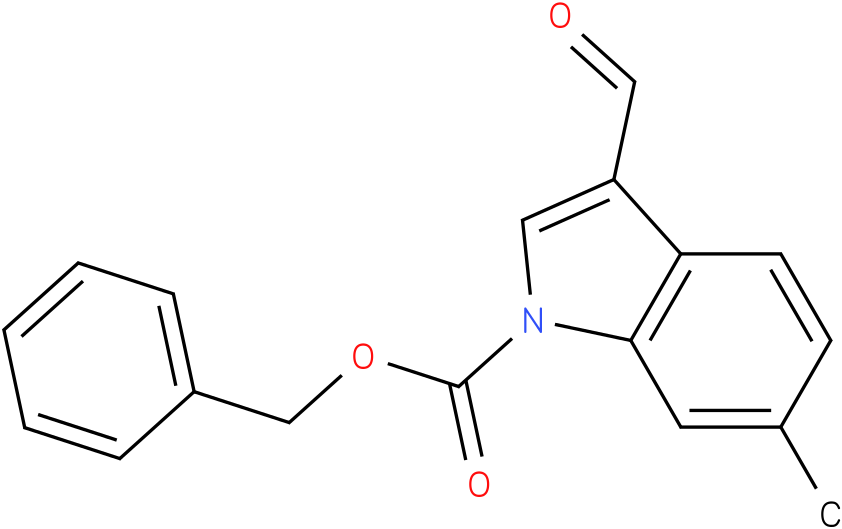 BENZYL 3-FORMYL-6-METHYL-1H-INDOLE-1-CARBOXYLATE