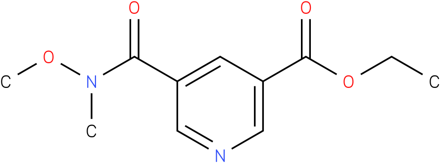 ethyl 5-(methoxy(methyl)carbamoyl)nicotinate