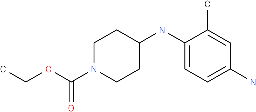 1-PIPERIDINECARBOXYLIC ACID,4-[(4-AMINO-2-METHYLPHENYL)AMINO]-,ETHYL ESTER