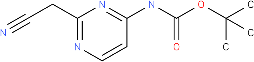 tert-butyl 2-(cyanomethyl)pyrimidin-4-ylcarbamate