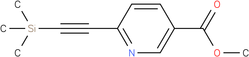 methyl 6-((trimethylsilyl)ethynyl)nicotinate