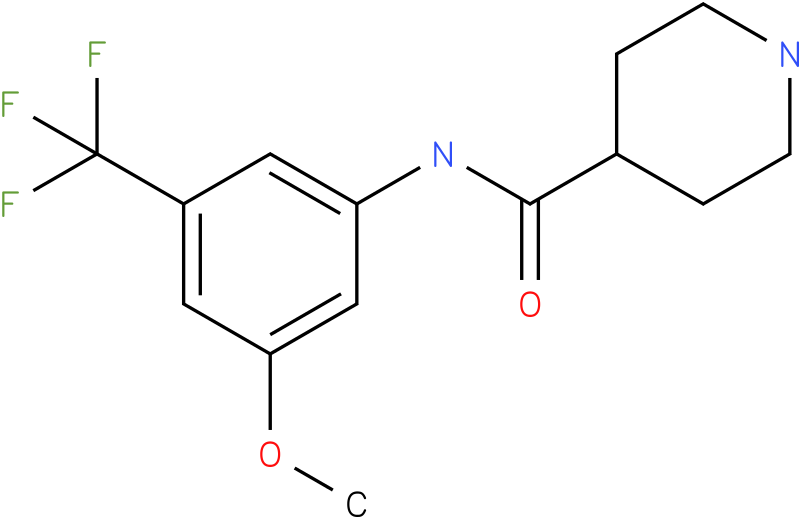 Piperidine-4-carboxylic acid (3-methoxy-5-trifluoromethyl-phenyl)-amide