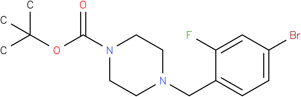 tert-butyl 4-(4-bromo-2-fluorobenzyl)piperazine-1-carboxylate