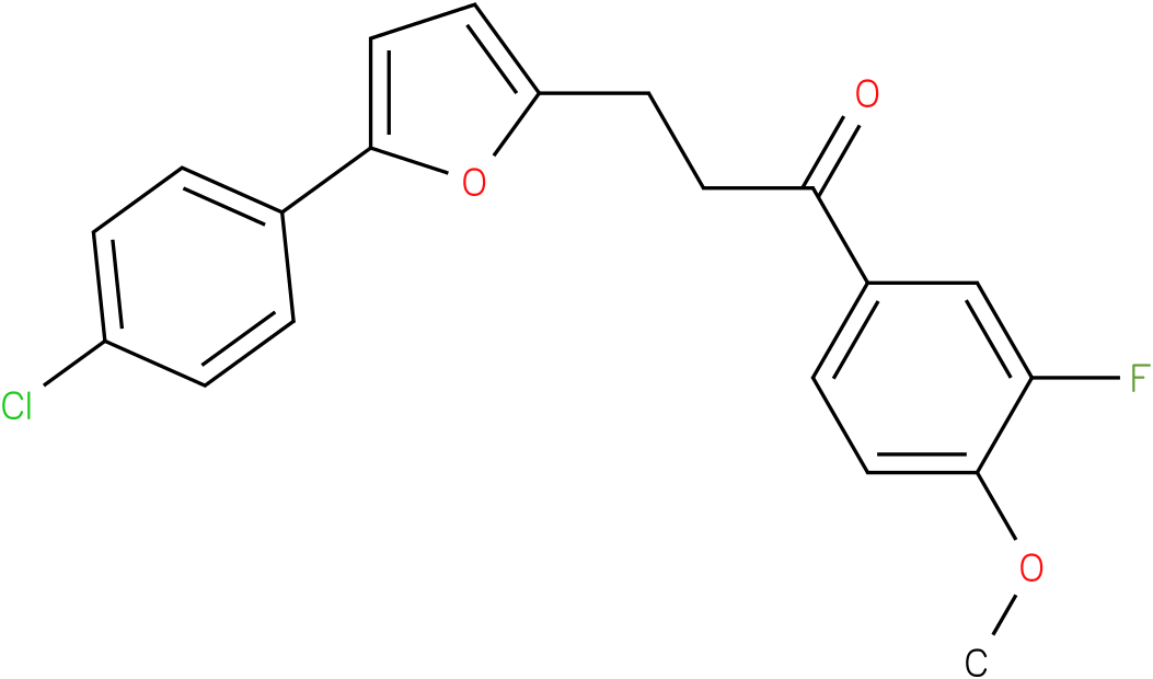 3-[5-(4-Chloro-phenyl)-furan-2-yl]-1-(3-fluoro-4-methoxy-phenyl)-propan-1-one
