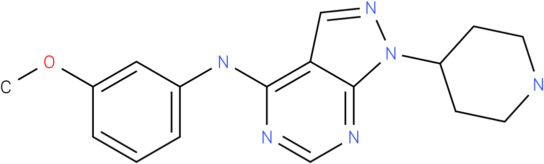 (3-Methoxy-phenyl)-(1-piperidin-4-yl-1H-pyrazolo[3,4-d]pyrimidin-4-yl)-amine