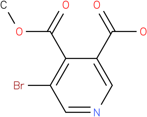 5-bromo-4-(methoxycarbonyl)nicotinic acid