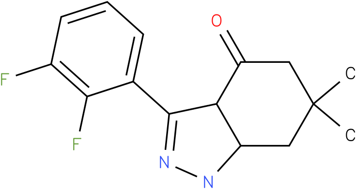 3-(2,3-Difluoro-phenyl)-6,6-dimethyl-1,3a,5,6,7,7a-hexahydro-indazol-4-one