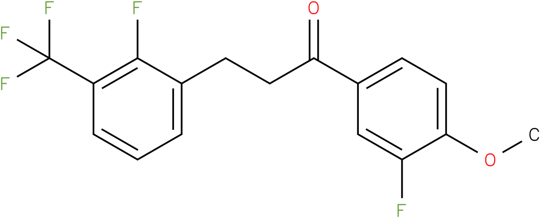 1-(3-Fluoro-4-methoxy-phenyl)-3-(2-fluoro-3-trifluoromethyl-phenyl)-propan-1-one