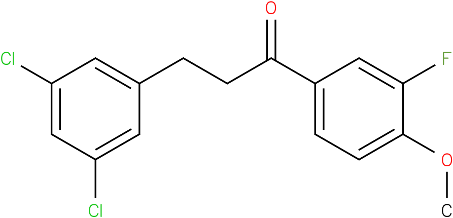 3-(3,5-Dichloro-phenyl)-1-(3-fluoro-4-methoxy-phenyl)-propan-1-one