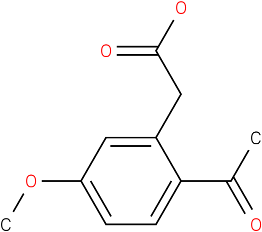 2-(2-acetyl-5-methoxyphenyl)acetic acid