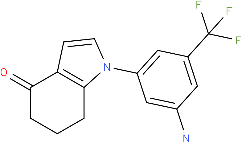 1-(3-Amino-5-trifluoromethyl-phenyl)-1,5,6,7-tetrahydro-indol-4-one