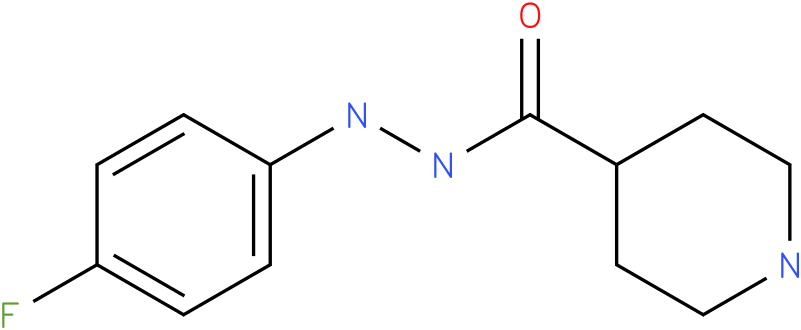 Piperidine-4-carboxylic acid N'-(4-fluoro-phenyl)-hydrazide