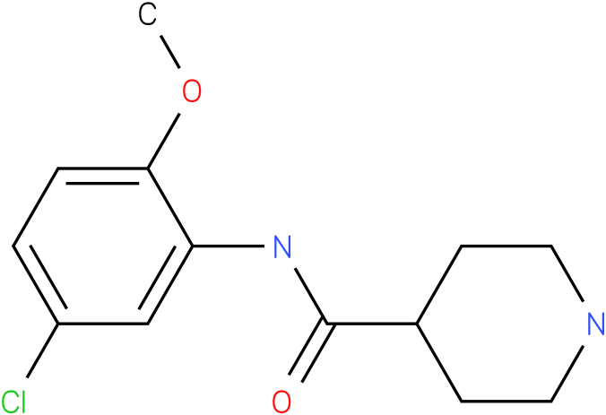 Piperidine-4-carboxylic acid (5-chloro-2-methoxy-phenyl)-amide